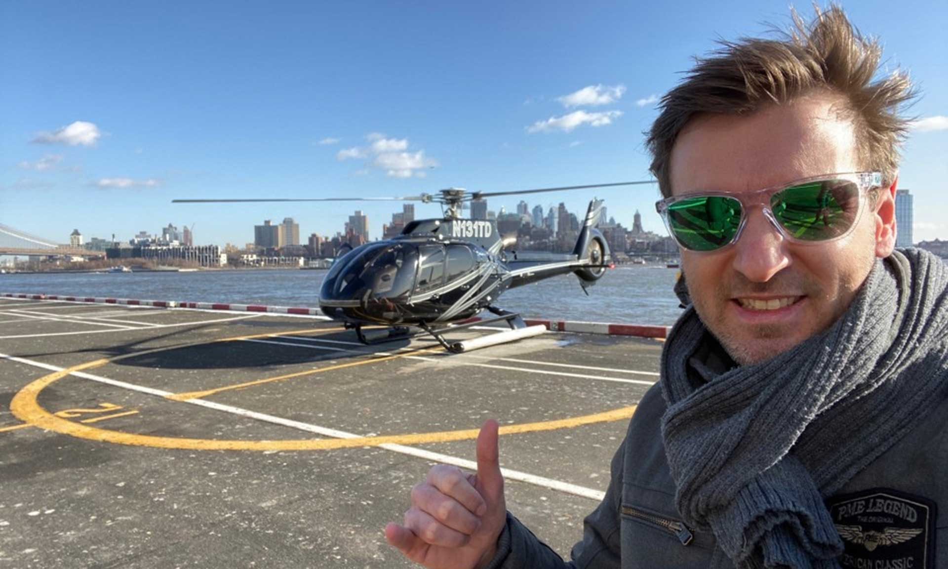 Joris with a Helicopter
